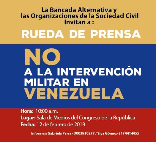 Organizaciones sociales manifestaron a Duque preocupación por actitud complaciente frente a posible intervención militar de EEUU en Venezuela