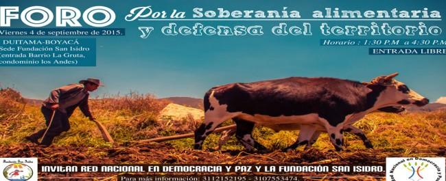 Foro por la soberanía alimentaria y defensa del territorio