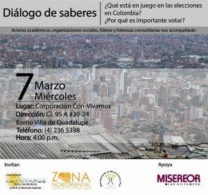Diálogo de saberes: ¿Qué está en juego en las elecciones en Colombia? ¿Por qué es importante votar?