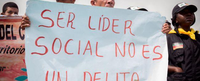 Solidaridad con líderes y lideresas sociales