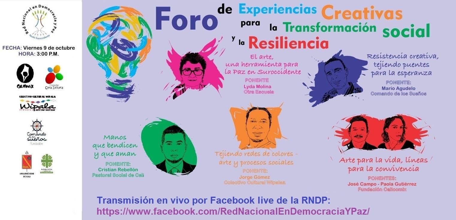 Foro de Experiencias Creativas para la Transformación Social y la Resiliencia
